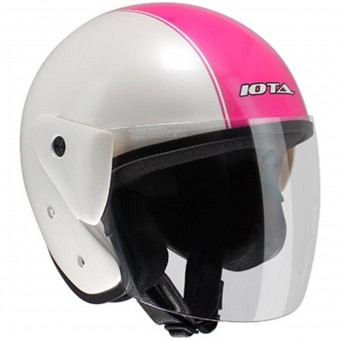 Casque jet IOTA OP02 Town White Pink