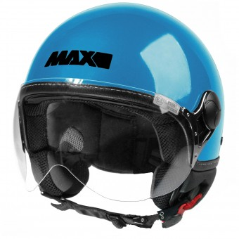 Casque jet MAX Power Design Turquesa