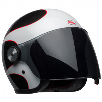 Casque jet Bell Riot Boost White Black Red
