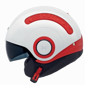 Casque jet Nexx SX.10 Switx Rojo Blanco