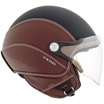 Casque jet Nexx SX.60 Vintage 2 Black Brown Mat
