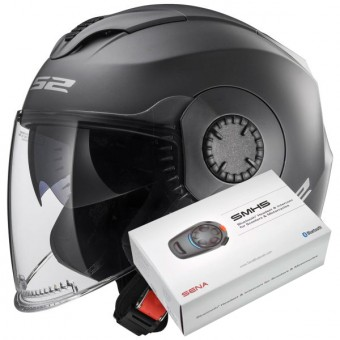 Casque jet LS2 Verso Matt Titanium OF570