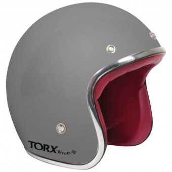 Casque jet Torx Wyatt Matt Grey