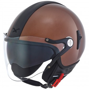 Casque jet Nexx X60 Cruise Marrón Negro