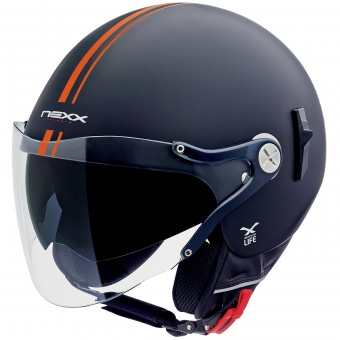 Casque jet Nexx X60 Vision Flex Bastille Neon Orange