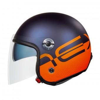 Casque jet Nexx X70 City X Blue Orange Matt