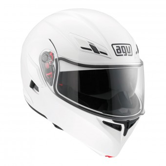 Casque Modular AGV Compact ST Vermont White Black Red