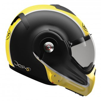 Casque Modular Roof Desmo Flash Mat Black Yellow 3e Generation