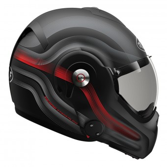 Casque Modular Roof Desmo Streamline Matt Black Titan Red 3e Generation