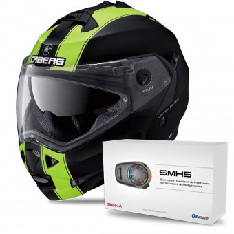 Casque Modular Caberg Duke II Legend Matt Black Yellow Fluo