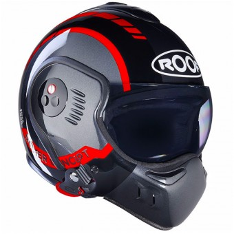Casque Modular Roof Boxer V8 LP20 Black Metal Red