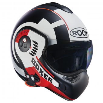 Casque Modular Roof Boxer V8 Target Matt White Black Red