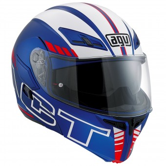 Casque Modular AGV Compact ST Seattle Matt Blue Red