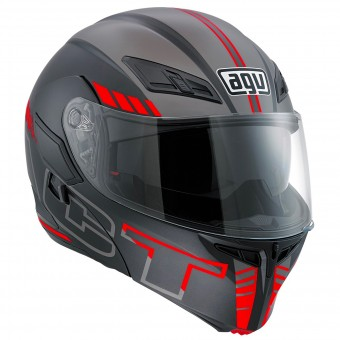 Casque Modular AGV Compact ST Seattle Matt Silver Red