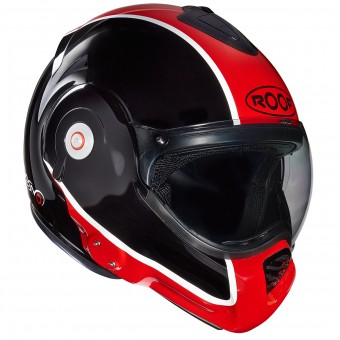 Casque Modular Roof Desmo Flash Negro Rojo