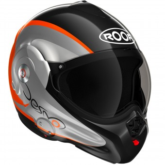 Casque Modular Roof Desmo Fluo Black Orange