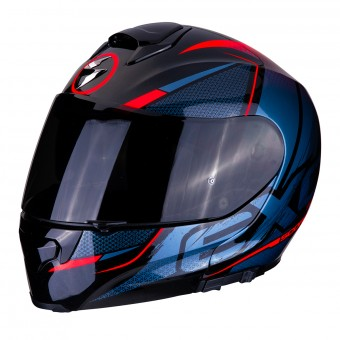 Casque Modular Scorpion EXO 3000 Air Creed Negro Rojo