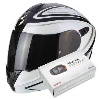 Casque Modular Scorpion Exo 920 Ritzy Black White