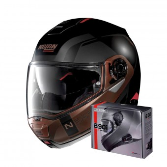 Casque Modular Nolan N100 5 Consistency N-Com Flat Black Copper 28