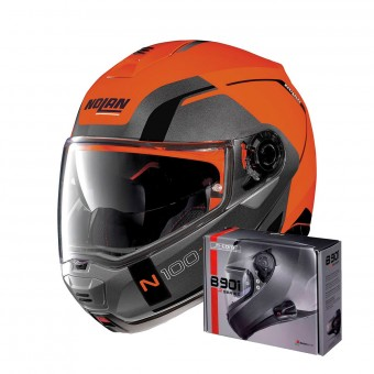 Casque Modular Nolan N100 5 Consistency N-Com Led Flat Orange 27