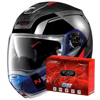 Casque Modular Nolan N100 5 Consistency N-Com Scratched Chrome 29
