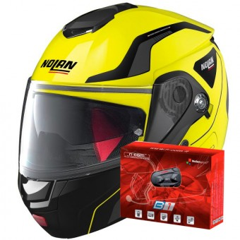 Casque Modular Nolan N90 2 Straton N-Com Led Yellow 18