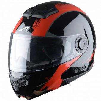 Casque Modular Astone RT 800 Venom Black Red