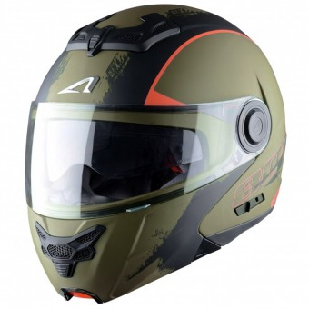 Casque Modular Astone RT 800 Venom Khaki Black