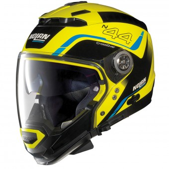 Casque Convertible Nolan N44 Evo Viewpoint N-Com Led Yellow 51
