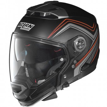 Casque Convertible Nolan N44 Evo Como N-Com Flat Black Red 33
