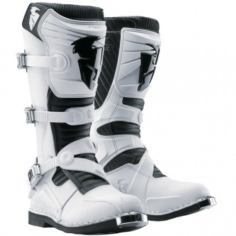 Botas Motocross Thor Ratchet White