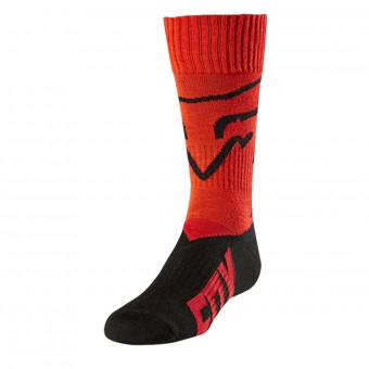 Calcetines Motocross FOX Youth MX Niño Red 003