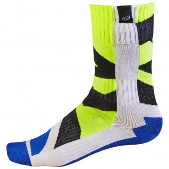 Calcetines Motocross FOX Creo Socks White Yellow Niño 214