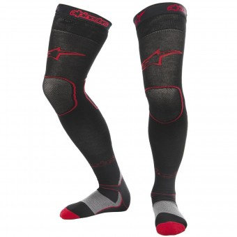 Calcetines Motocross Alpinestars Long Mx Socks Black Red