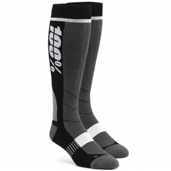 Calcetines Motocross 100% Socks Hi Side Grey Black