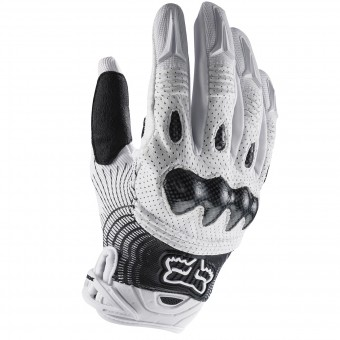 Guantes motocross FOX Bomber White Black