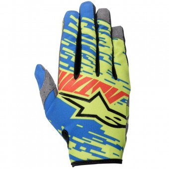 Guantes motocross Alpinestars Racer Braap Blue Red