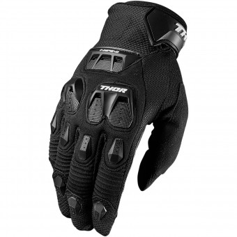 Guantes motocross Thor Defend Black
