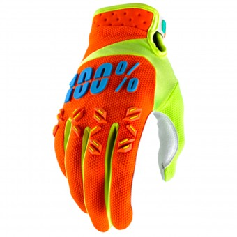 Guantes motocross 100% Airmatic Orange Niño