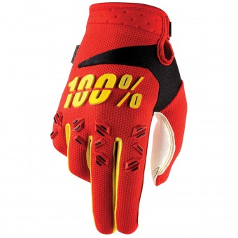 Guantes motocross 100% Airmatic Red Niño