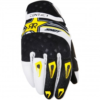 Guantes motocross SHOT Contact Replica Rockstar Yellow