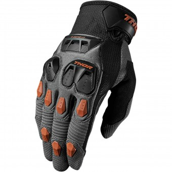 Guantes motocross Thor Defend Charcoal Orange