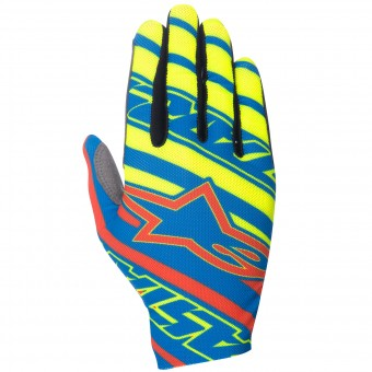 Guantes motocross Alpinestars Dune Blue Red