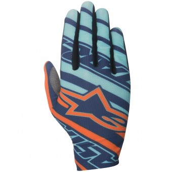 Guantes motocross Alpinestars Dune Turquoise Orange