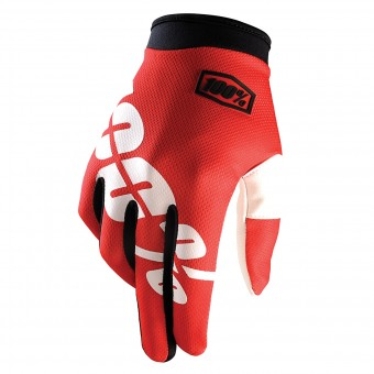 Guantes motocross 100% Itrack Fire Red