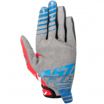 Guantes motocross Alpinestars Racer Braap Blue Red Niño