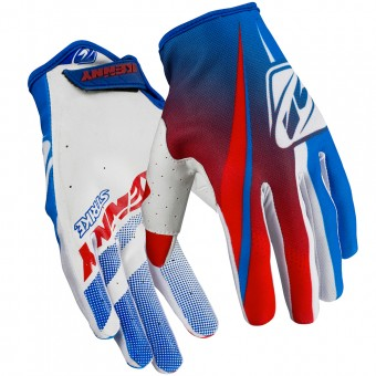Guantes motocross Kenny Strike Blue Red Niño