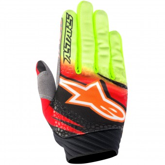 Guantes motocross Alpinestars Techstar Venom Red Yellow Fluo