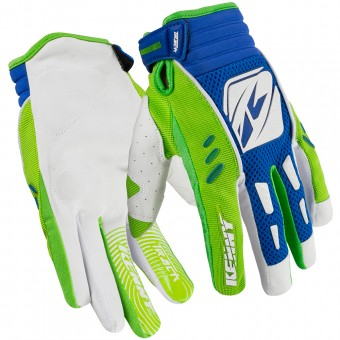 Guantes motocross Kenny Track Green Blue Niño