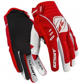Guantes motocross Kenny Track Red White